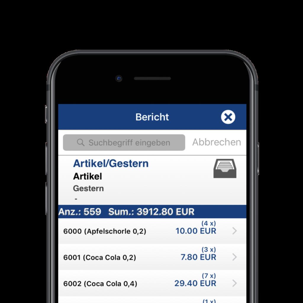 Matrix POS App Für Die Verwaltung